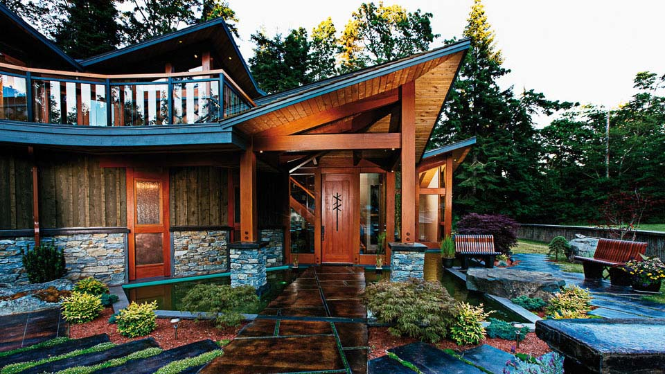 Eagles Aerie Luxury West Coast Timber Frame Island Timber Frame
