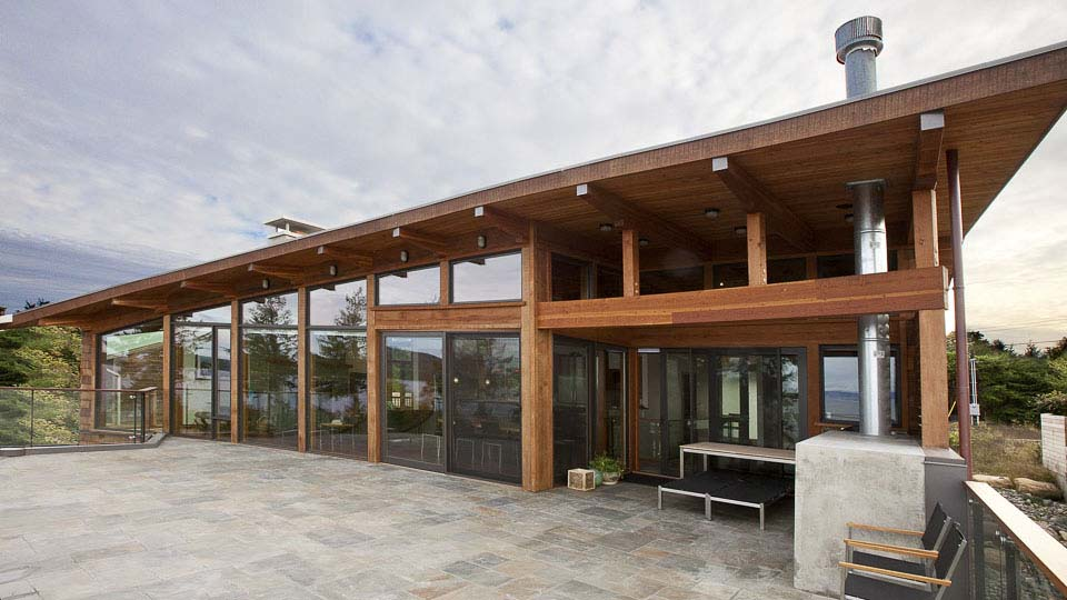 Hanna Residence Glulam Timberframe Island Timber Frame