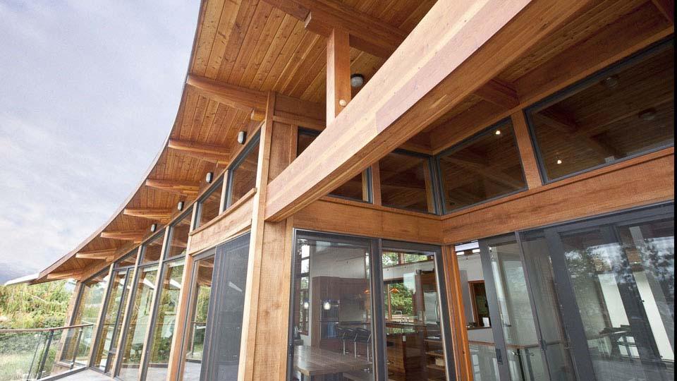 Hanna Residence - Glulam Timberframe | Island Timber Frame