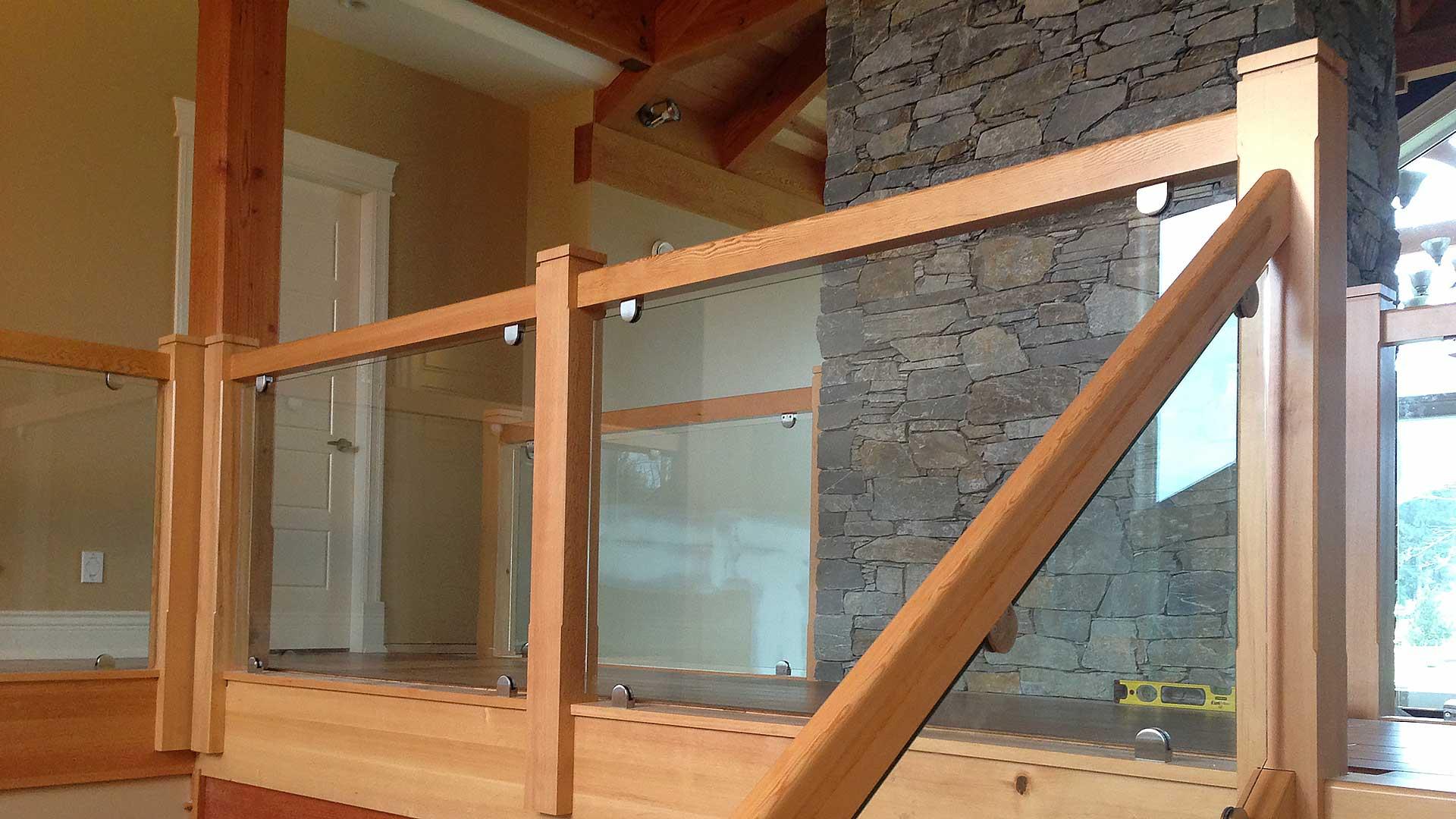 Glass Stair Railings Interior: Custom Timber Stairs And Railings