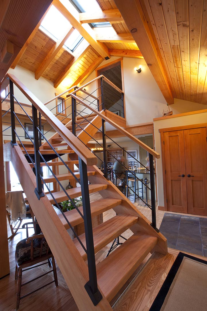 Custom Timber Stairs And Railings Island Timber Frame
