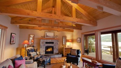 Island timber frame custom timber frame homes for Post and beam shop plans